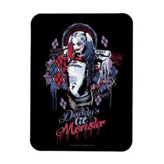 Suicide Squad | Harley Quinn Inked Graffiti Rectangular Photo Magnet