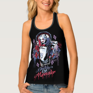Suicide Squad | Harley Quinn Inked Graffiti Tank Top