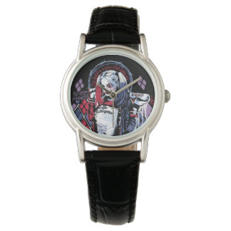 Suicide Squad | Harley Quinn Inked Graffiti Wristwatch