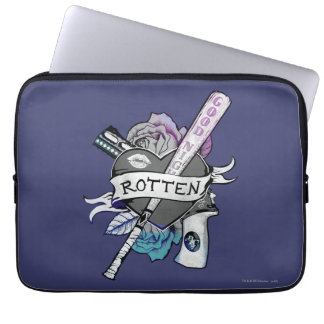 "Suicide Squad | Harley Quinn ""Rotten"" Tattoo Art Laptop Sleeve"
