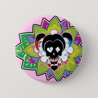 Suicide Squad | Harley Quinn Skull Tattoo Art 2 Inch Round Button