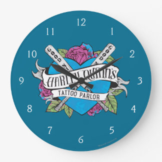 Suicide Squad | Harley Quinn's Tattoo Parlor Heart Wallclock