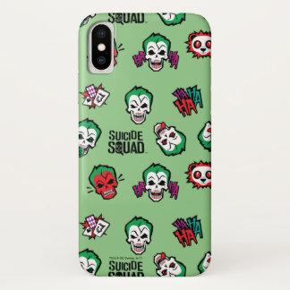 Suicide Squad | Joker Emoji Pattern iPhone X Case