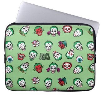 Suicide Squad | Joker Emoji Pattern Laptop Sleeve