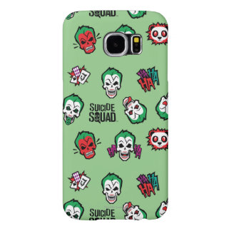 Suicide Squad | Joker Emoji Pattern Samsung Galaxy S6 Cases