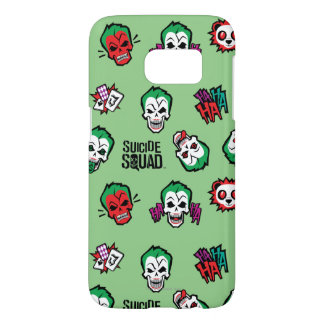 Suicide Squad   Joker Emoji Pattern Samsung Galaxy S7 Case