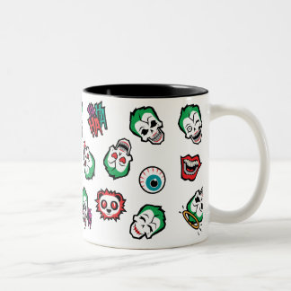 Suicide Squad | Joker Emoji Pattern Two-Tone Coffee Mug