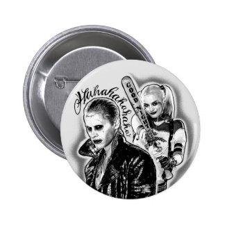 Suicide Squad | Joker & Harley Airbrush Tattoo 2 Inch Round Button