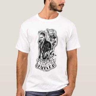 Suicide Squad   Joker & Harley Airbrush Tattoo T-Shirt