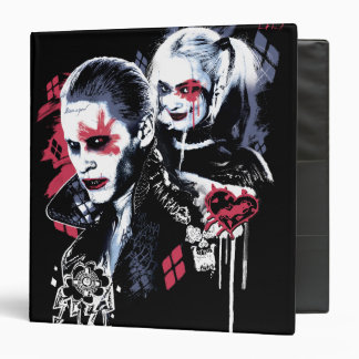 Suicide Squad | Joker & Harley Painted Graffiti Binder