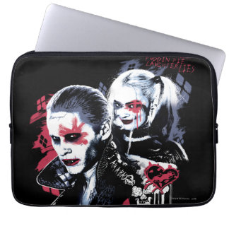 Suicide Squad | Joker & Harley Painted Graffiti Laptop Computer Sleeve