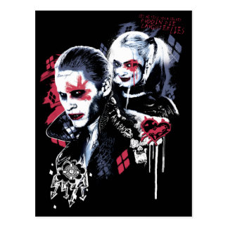 Suicide Squad | Joker & Harley Painted Graffiti Postcard