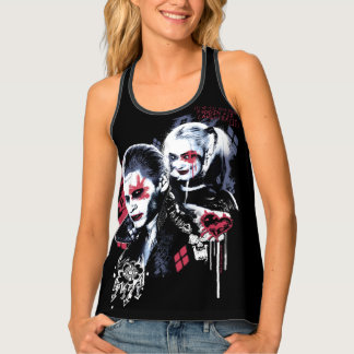 Suicide Squad | Joker & Harley Painted Graffiti Tank Top