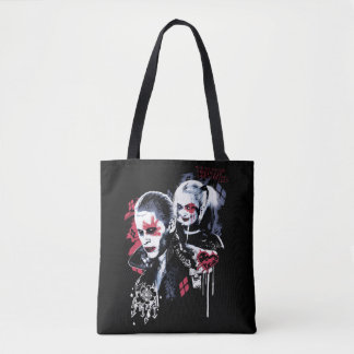 Suicide Squad | Joker & Harley Painted Graffiti Tote Bag
