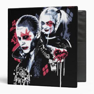 Suicide Squad | Joker & Harley Painted Graffiti Vinyl Binders