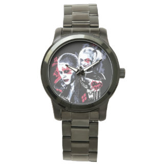 Suicide Squad | Joker & Harley Painted Graffiti Wrist Watches