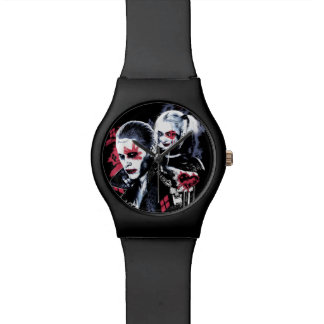 Suicide Squad | Joker & Harley Painted Graffiti Wristwatches