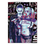 Suicide Squad | Joker & Harley Typography Photo Greeting Card