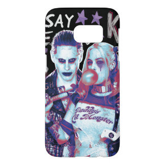 Suicide Squad | Joker & Harley Typography Photo Samsung Galaxy S7 Case