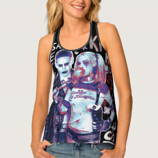 Suicide Squad | Joker & Harley Typography Photo Tank Top