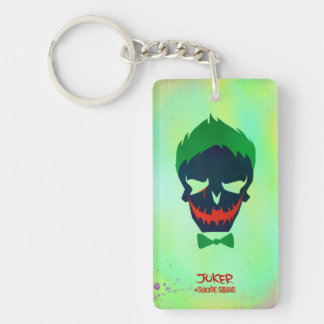 Suicide Squad | Joker Head Icon Double-Sided Rectangular Acrylic Keychain