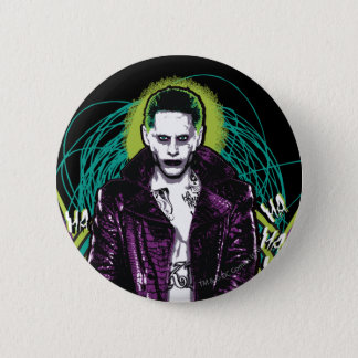 Suicide Squad | Joker Retro Rock Graphic 2 Inch Round Button