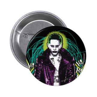 Suicide Squad | Joker Retro Rock Graphic 2 Inch Round Button