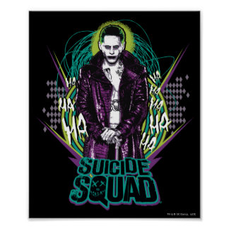 Suicide Squad | Joker Retro Rock Graphic Poster