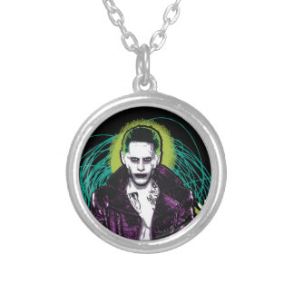 Suicide Squad | Joker Retro Rock Graphic Silver Plated Necklace