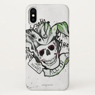 "Suicide Squad | Joker Skull ""All In"" Tattoo Art Case-Mate iPhone Case"