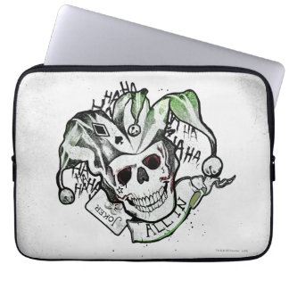 "Suicide Squad | Joker Skull ""All In"" Tattoo Art Laptop Computer Sleeves"