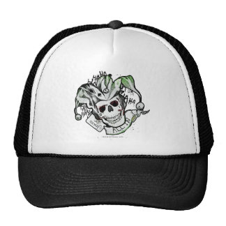 "Suicide Squad | Joker Skull ""All In"" Tattoo Art Trucker Hat"