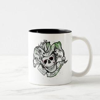 "Suicide Squad | Joker Skull ""All In"" Tattoo Art Two-Tone Coffee Mug"