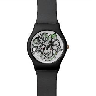 "Suicide Squad | Joker Skull ""All In"" Tattoo Art Watch"
