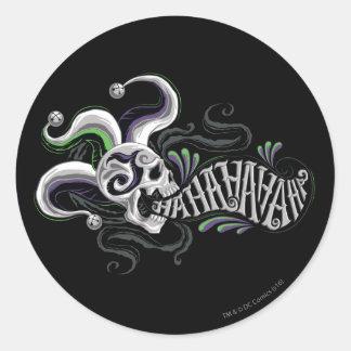Suicide Squad | Joker Skull - Haha Round Sticker