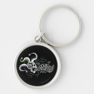 Suicide Squad | Joker Skull - Haha Silver-Colored Round Keychain