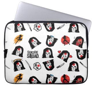 Suicide Squad | Katana Emoji Pattern Laptop Sleeves