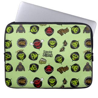 Suicide Squad | Killer Croc Emoji Pattern Laptop Computer Sleeves