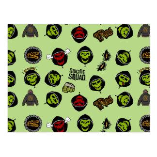 Suicide Squad   Killer Croc Emoji Pattern Postcard