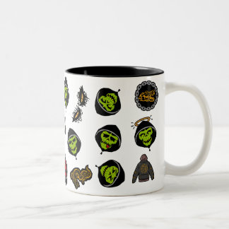 Suicide Squad | Killer Croc Emoji Pattern Two-Tone Coffee Mug