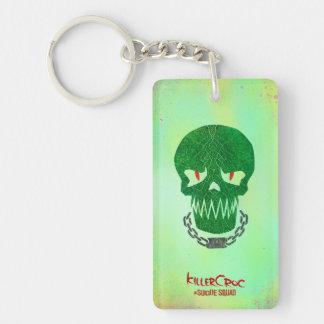 Suicide Squad | Killer Croc Head Icon Double-Sided Rectangular Acrylic Keychain