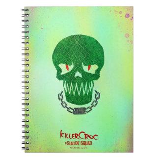 Suicide Squad | Killer Croc Head Icon Notebooks