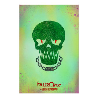 Suicide Squad | Killer Croc Head Icon Poster