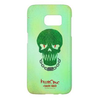 Suicide Squad   Killer Croc Head Icon Samsung Galaxy S7 Case