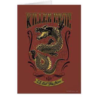 Suicide Squad | Killer Croc Tattoo Card