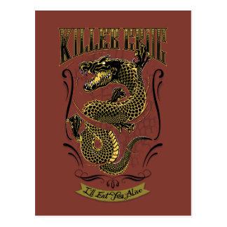 Suicide Squad   Killer Croc Tattoo Postcard