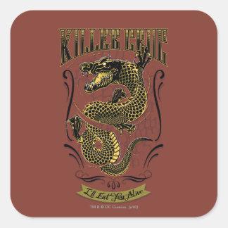 Suicide Squad   Killer Croc Tattoo Square Sticker