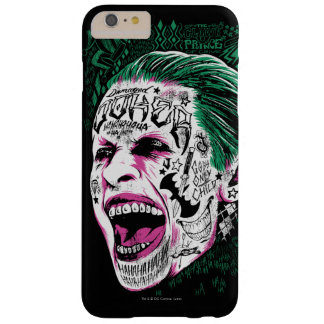 Suicide Squad | Laughing Joker Head Sketch Barely There iPhone 6 Plus Case