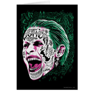 Suicide Squad | Laughing Joker Head Sketch Card
