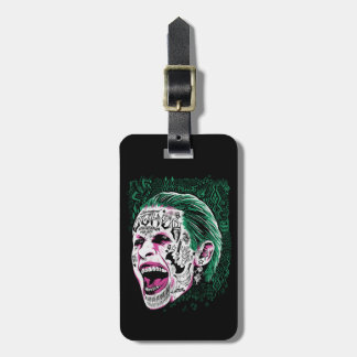 Suicide Squad | Laughing Joker Head Sketch Luggage Tag